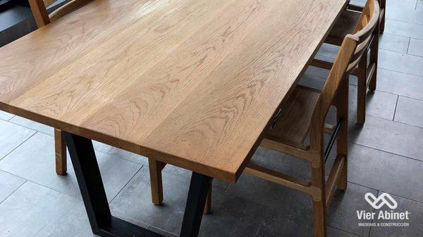 mesas de madera rectangulares
