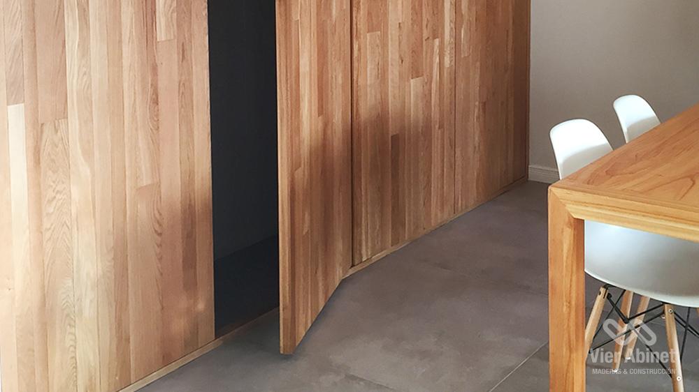 puertas ocultas de madera